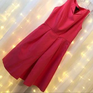 Ted Baker Bright Pink Halina High Neck Dress NWT